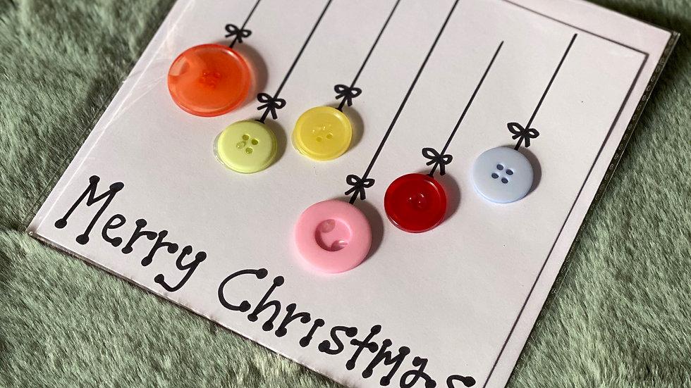 Merry Christmas Button Card