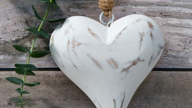 Solid Wooden Heart