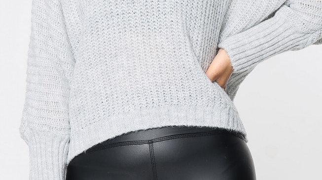 Soft Grey Short Jumper