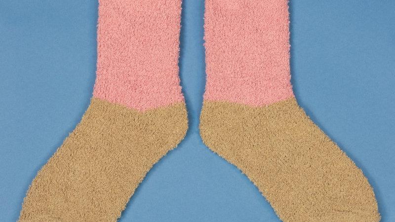 Fluffy Slipper Socks Candy Stone