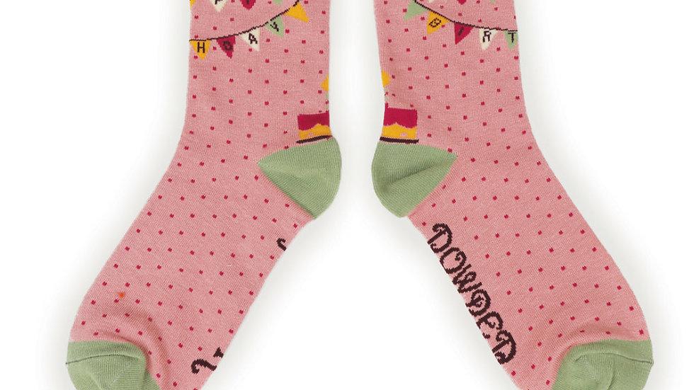 Ladies Powder Bamboo Socks