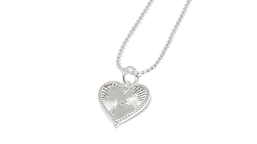 Lottie Heart Necklace - Silver