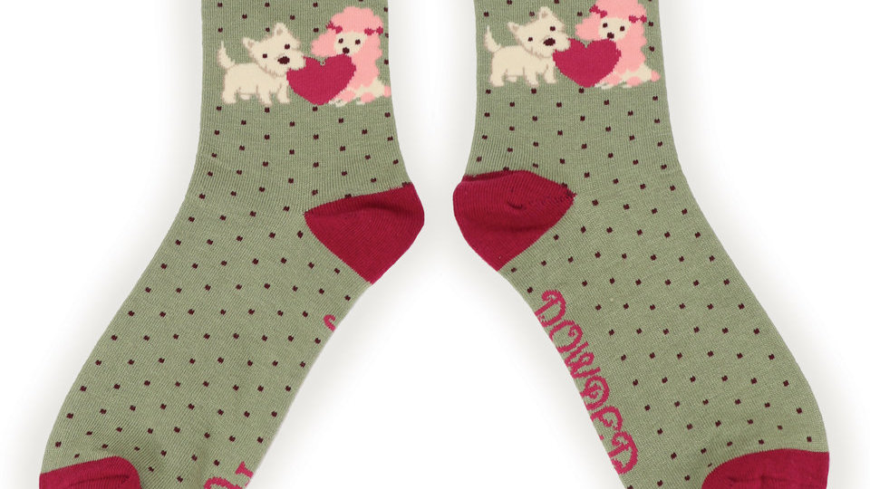 Puppy love ankle sock