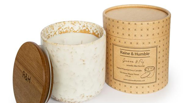 Guava & Fig - Scented Soy Candle/Canister