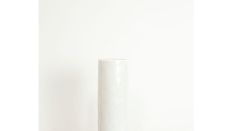 Pitka Ivory Speckled Tall Cylinder Vase