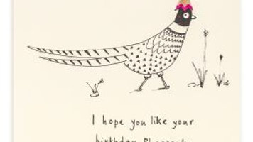 Pheasant birthday card