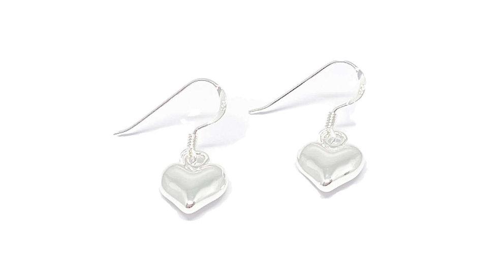 Catrina Heart Earrings - silver