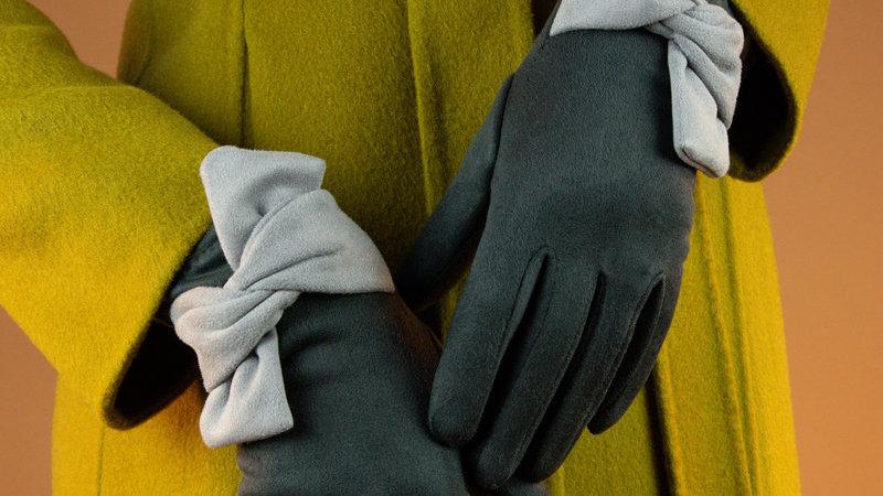 Henrietta Gloves Charcoal Slate - One Size