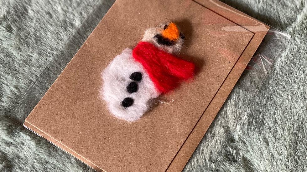 Felt Snowman Christmas Tree