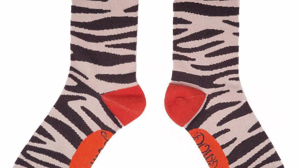 Powder Zebra Bamboo Socks
