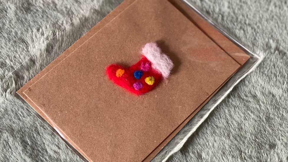 Felt Christmas Stocking Card