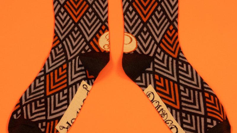Men's Chevron Charcoal Socks