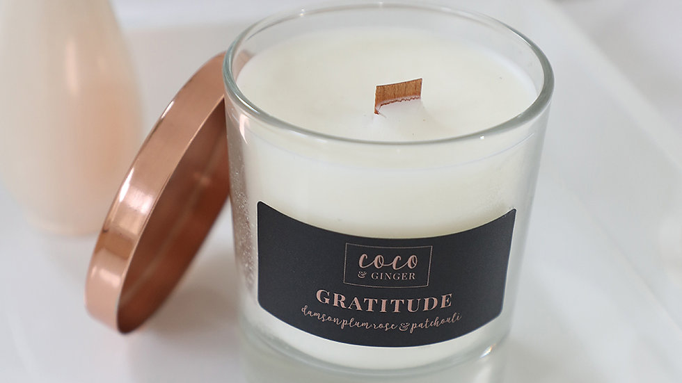 Gratitude - Soy Wax Candle in Glass Jar