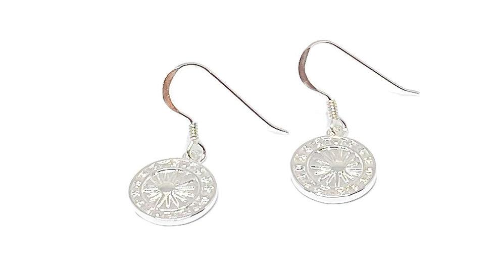 Alora Disc Sterling Silver Earrings