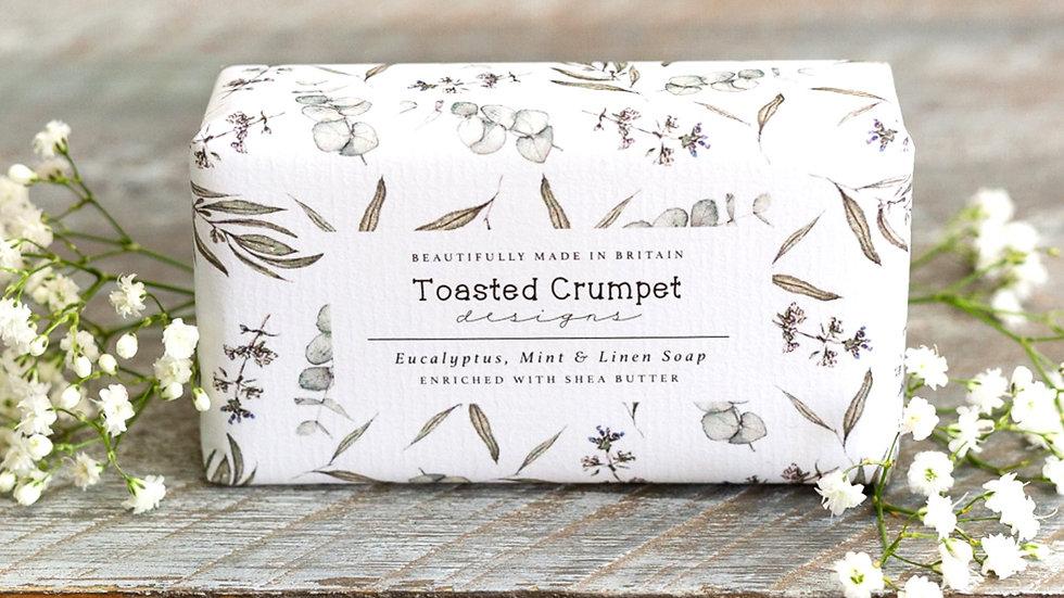Eucalyptus, mint & linen 190g soap bar