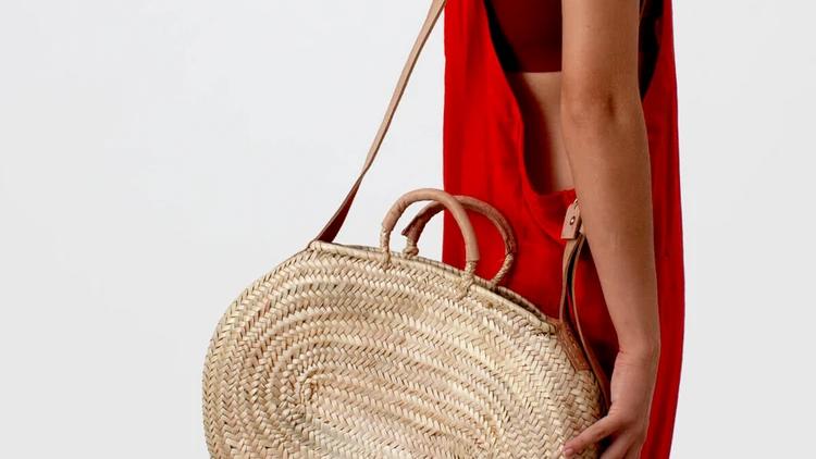 Tan Handle Crossbody Bag