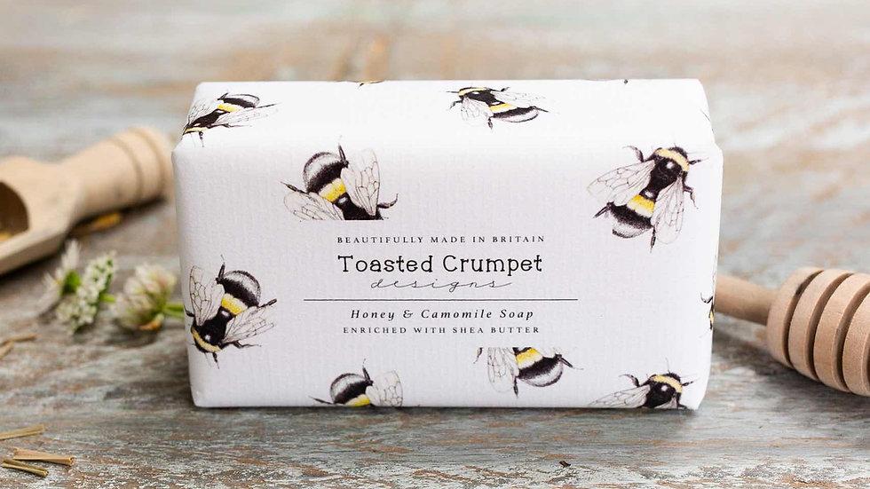 Honey & camomile 190g soap bar