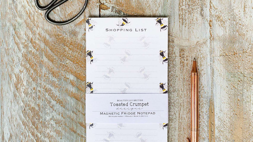 Bee pure magnetic shopping list pad