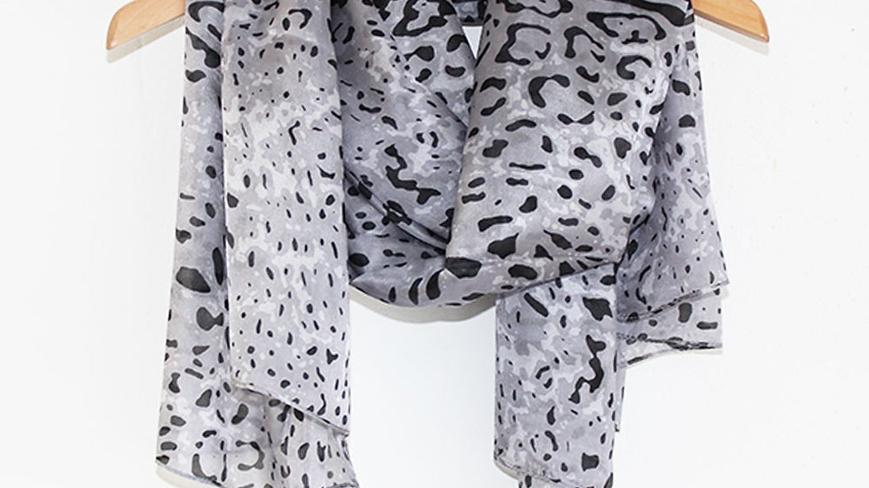 Tilley and Grace leopard print scarf