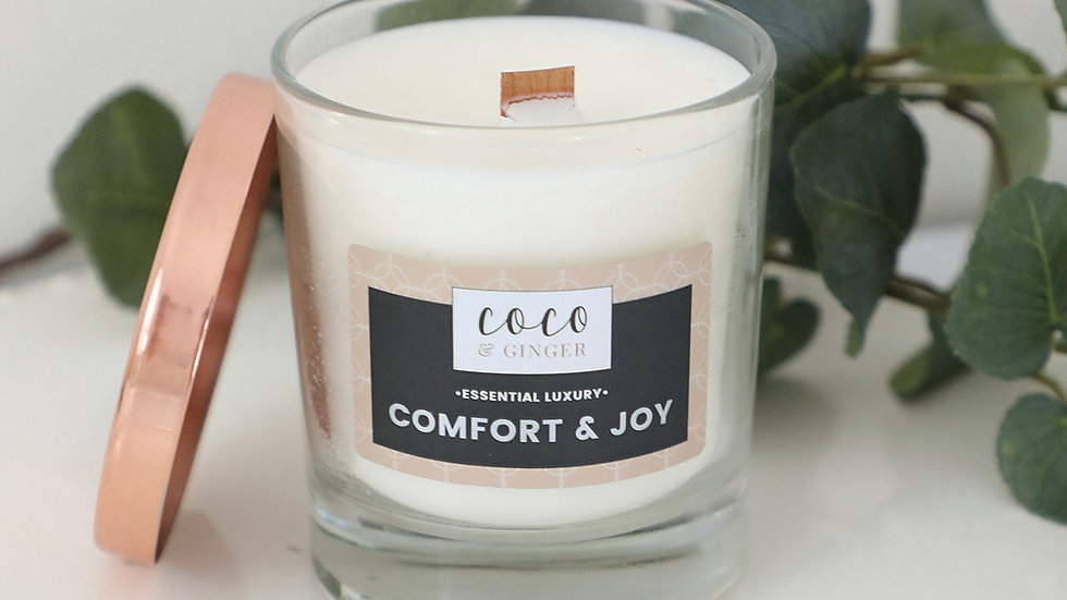 Comfort and Joy - Soy Wax Candle in Glass Jar
