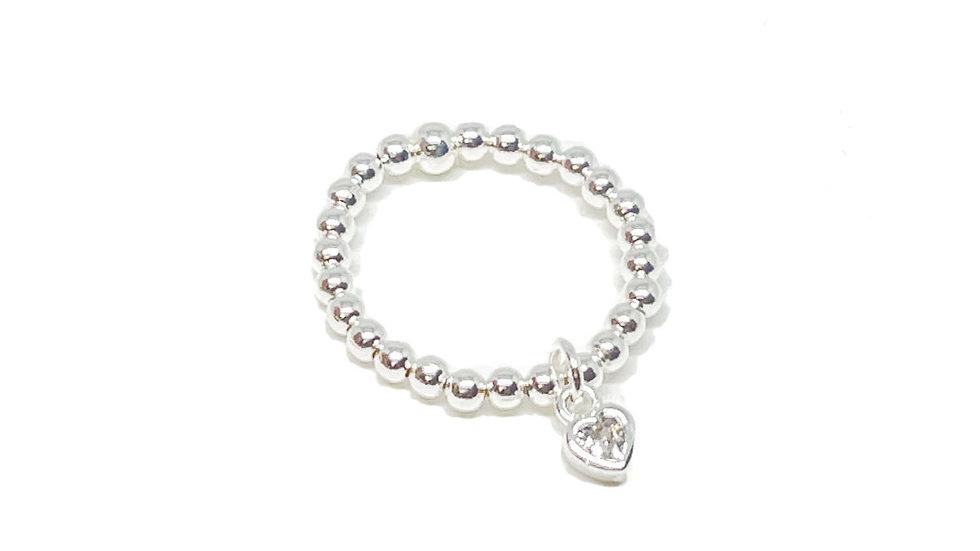 Rachel Sparkle Heart Ring