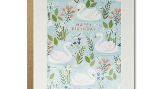Swan birthday card