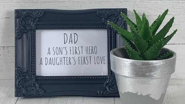 Hand Painted Quote Frame.