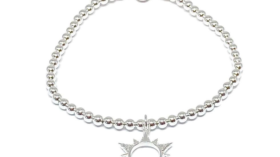Silver Sun Bracelet