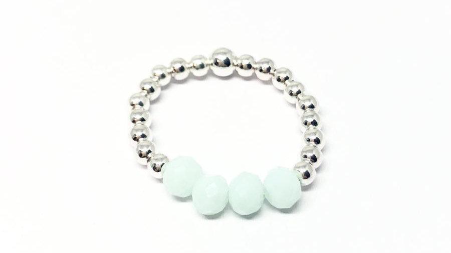 Rachel bead ring 'Mint'