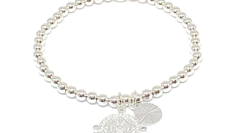Eliza Charm Bracelet - Silver