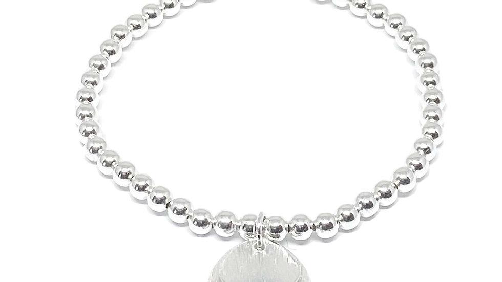 Iris Etched Disc Bracelet