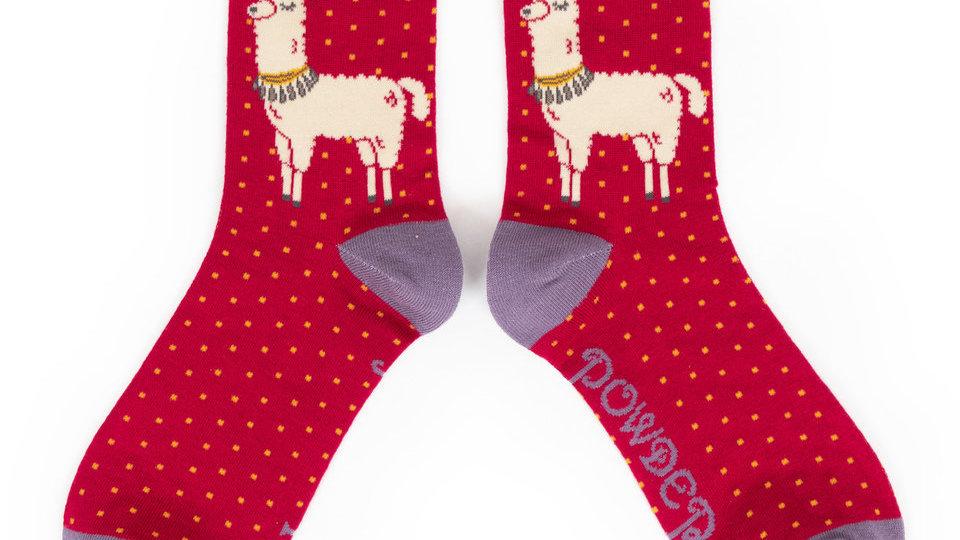 Posh llama ankle sock
