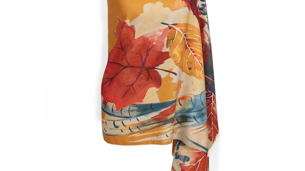 Ladies Leaf and Pheasant Pashmina/Scarf