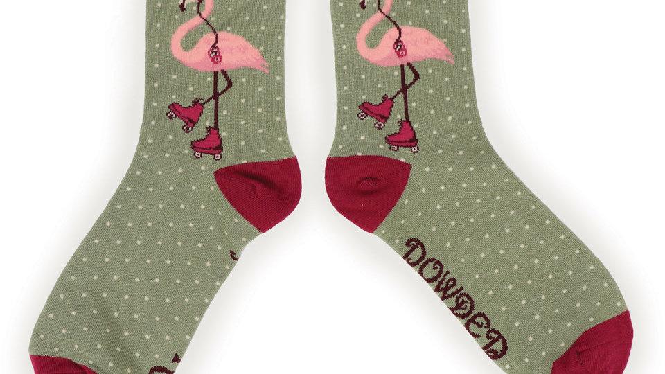 Powder flamingo ankle sock
