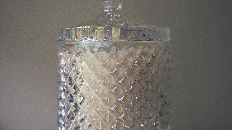 Awakened - Soy Wax Candle in Pearlised Geo Diamond Glass