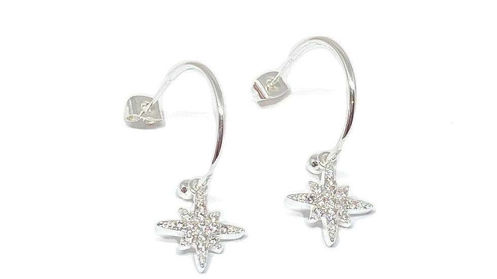 Krista Sterling Silver Hoop Earrings