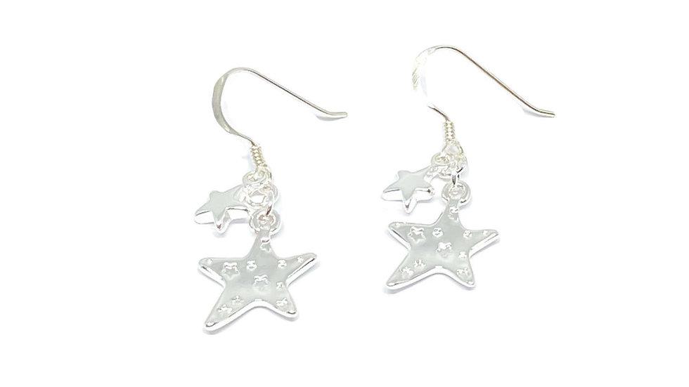 Grace Sterling Silver Star Earrings