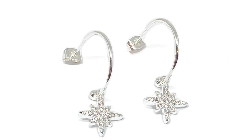 Krista Sterling Silver Hoop Earrings - Silver