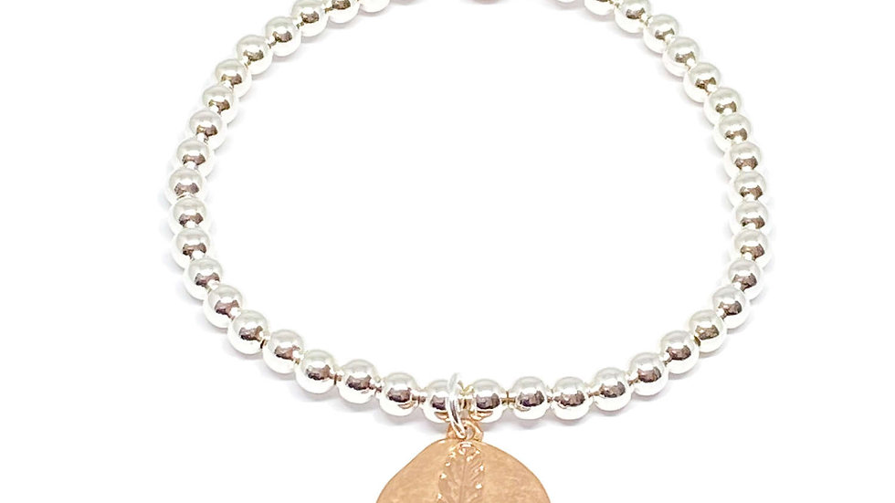 Rose Gold Leaf Bracelet