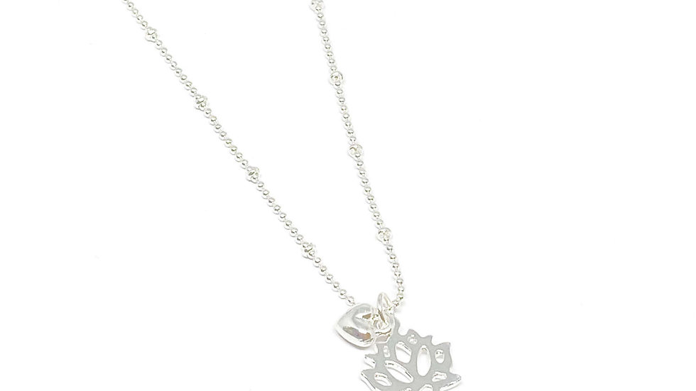India Lotus Flower Necklace.