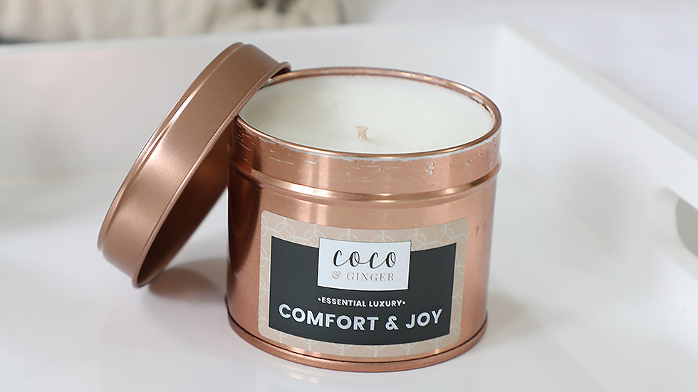 Comfort and Joy - Soy Wax Candle in Copper Tin