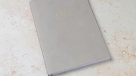 Grey Vegan Leather Notebook