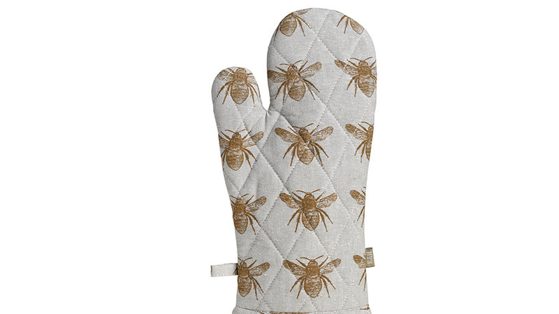 Recycled Honey Bee Single Oven Glove