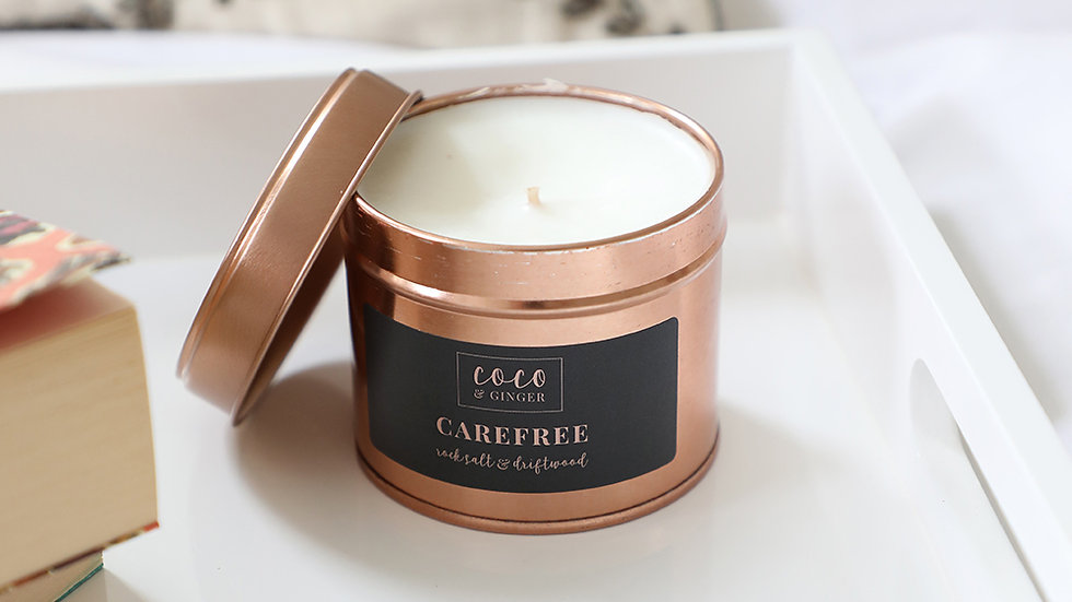 Carefree - Soy Wax Candle in Copper Tin