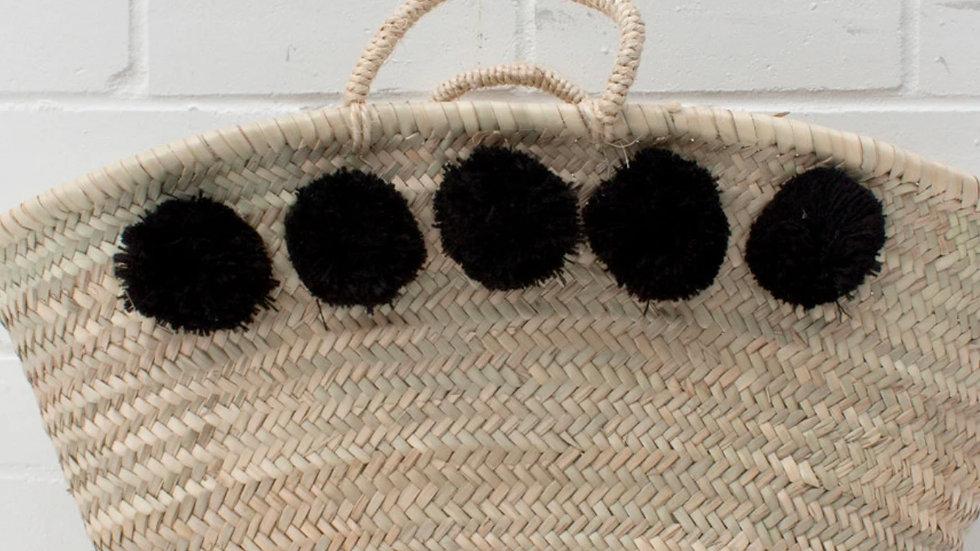 Black Pom Pom Basket