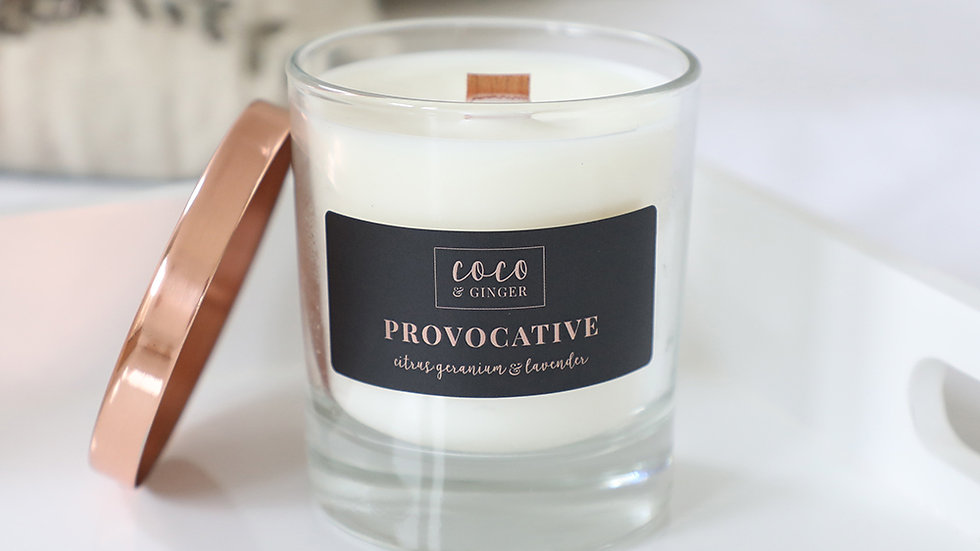 Provocative - Soy Wax Candle in Glass Jar
