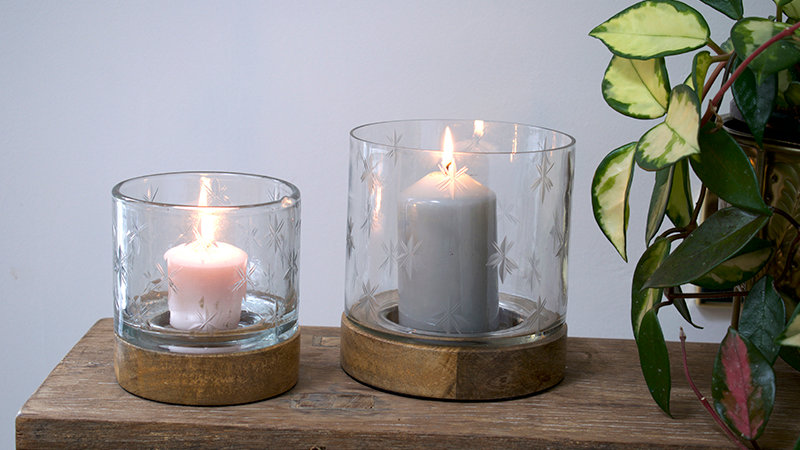 Hurricane Wooden Tea Light