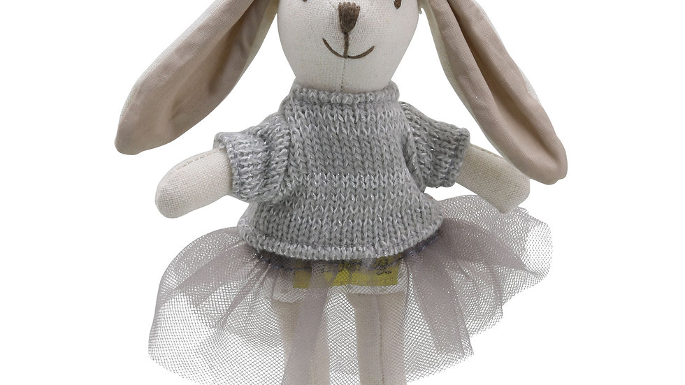 Mini Wilberry girl rabbit 'Grey dress'