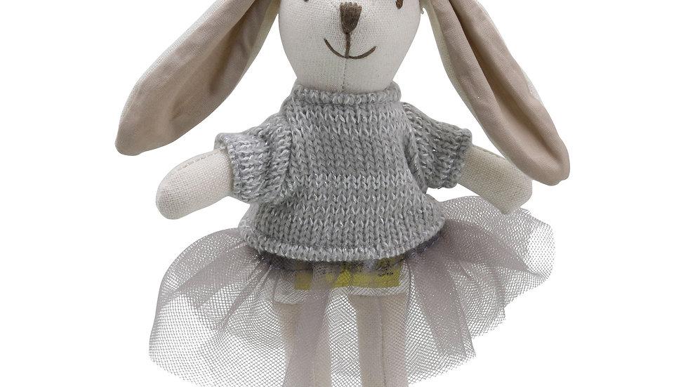 Mini Wilberry girl rabbit 'Grey dress'