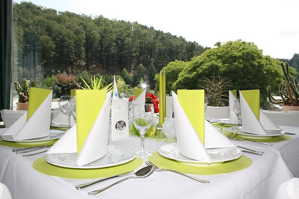 Gedeckter Tisch Restaurant Sägmühle